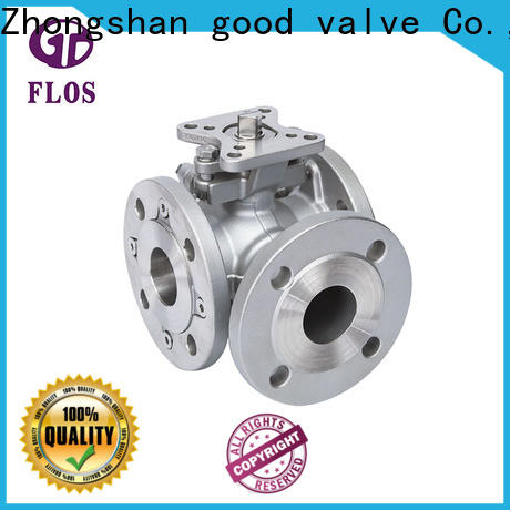 Custom 3 way ball valve flanged company for opening piping flow