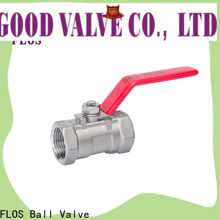 FLOS Latest single piece ball valve factory for closing piping flow