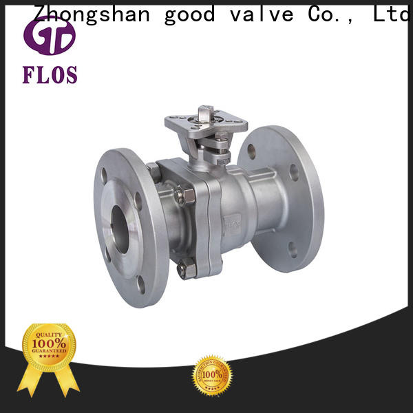 FLOS ball 2-piece ball valve company for opening piping flow