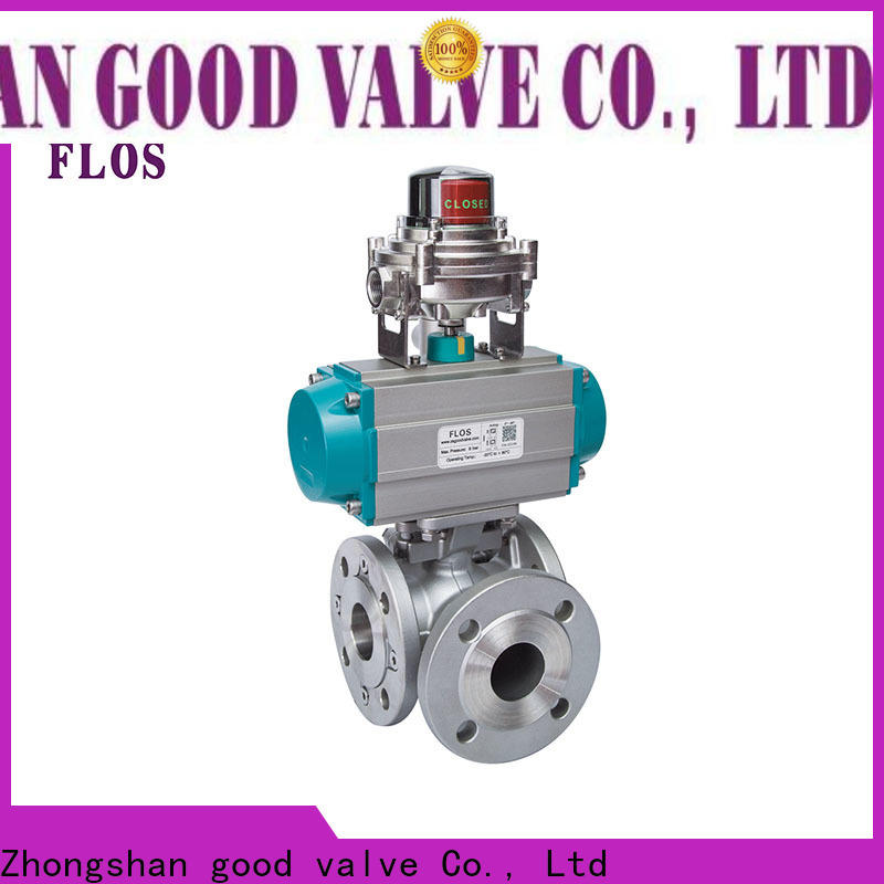 FLOS steel three way valve factory for closing piping flow