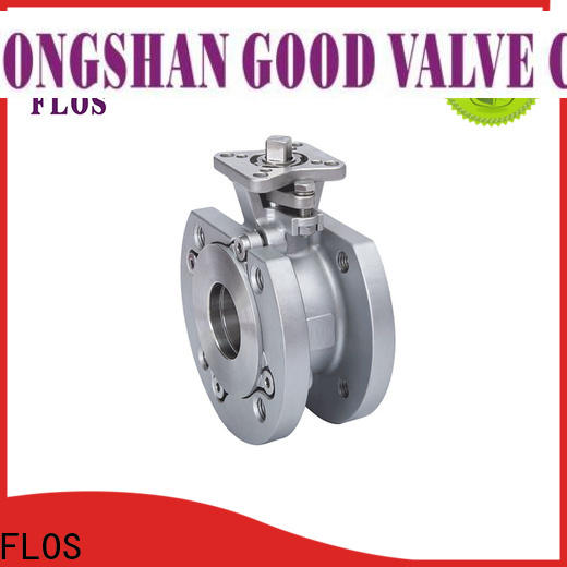 FLOS manual single piece ball valve factory for closing piping flow