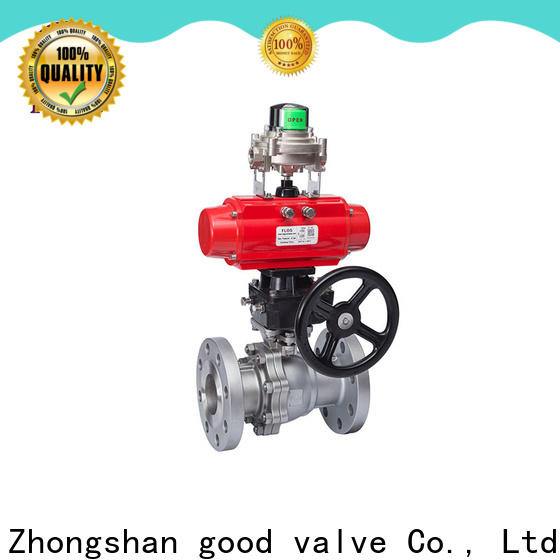Custom 2 piece stainless steel ball valve positionerflanged company for directing flow