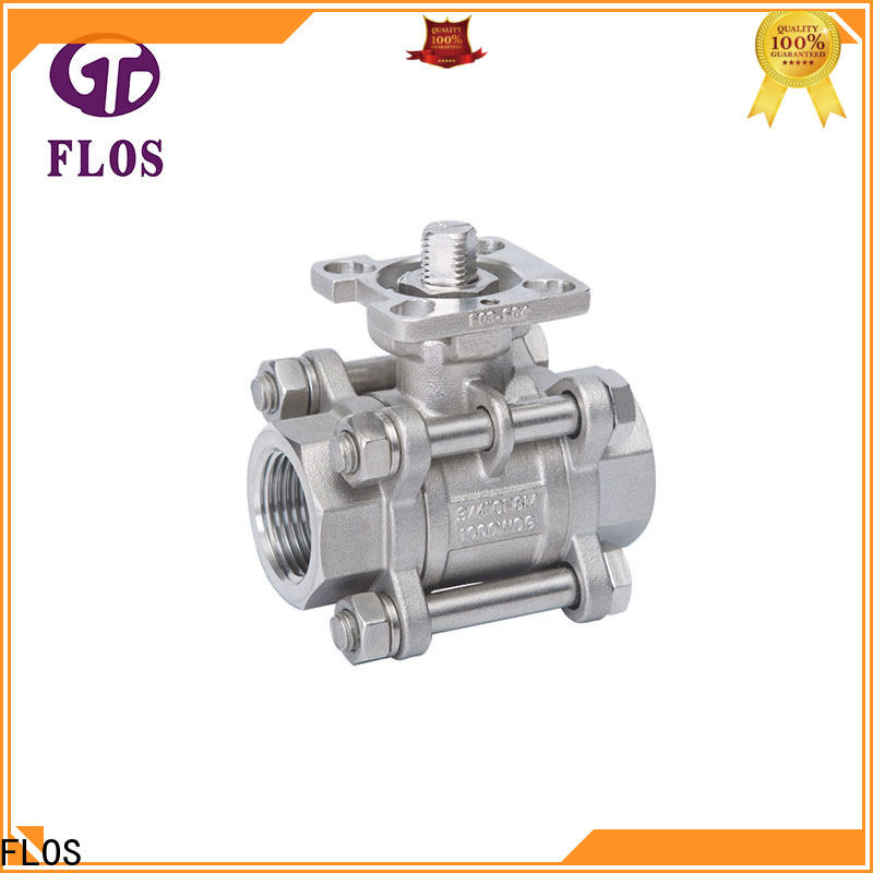 FLOS openclose 3-piece ball valve manufacturers for directing flow