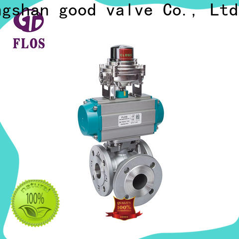FLOS stainless three way ball valve Supply for opening piping flow