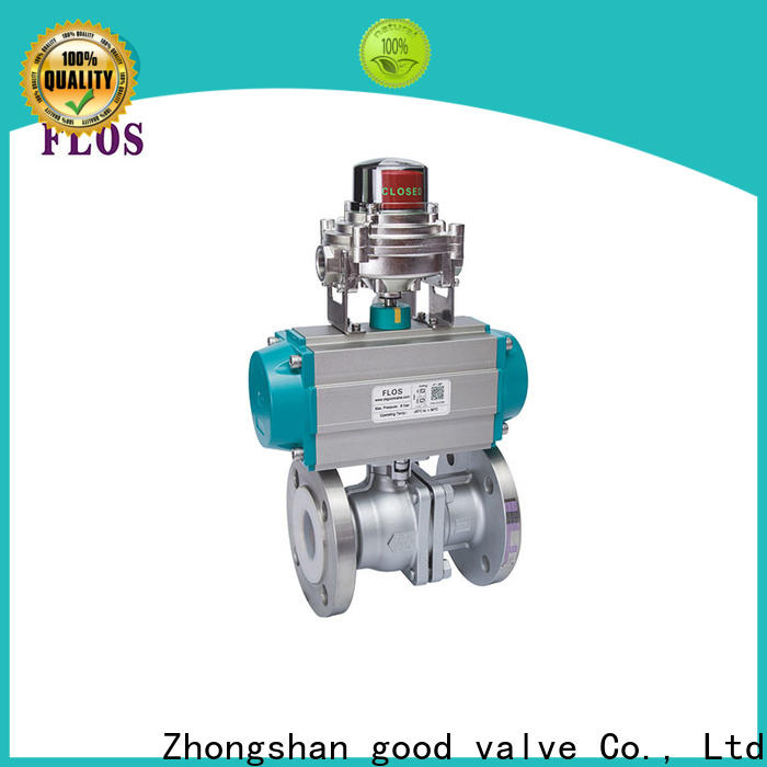FLOS pneumatic 2-piece ball valve company for closing piping flow
