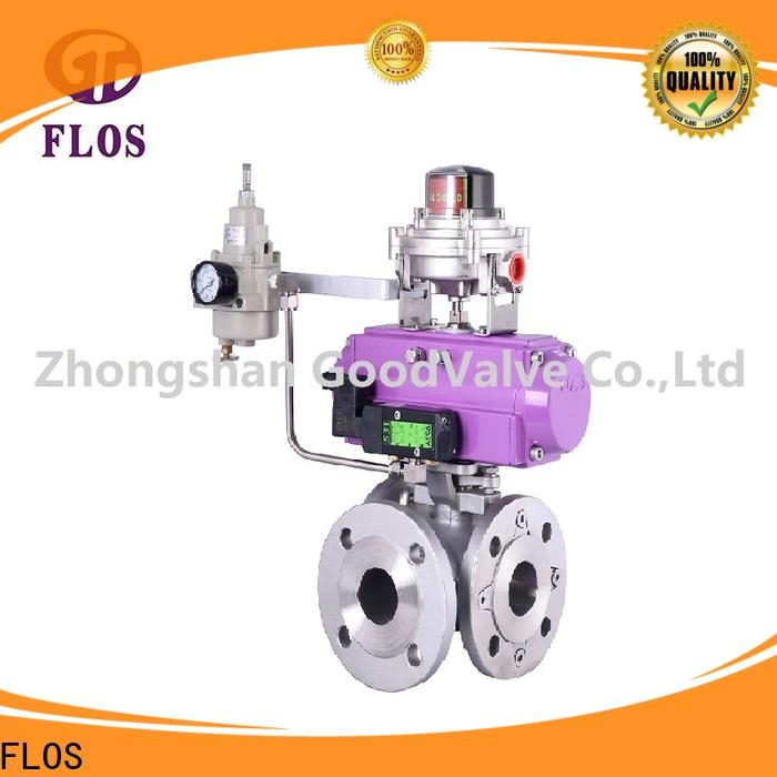 Custom 3 way ball valve pneumaticworm Suppliers for closing piping flow