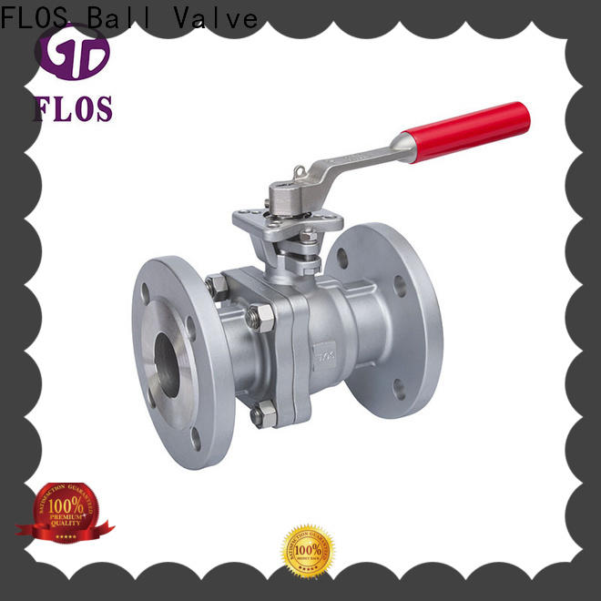 Top two piece ball valve flanged factory for opening piping flow