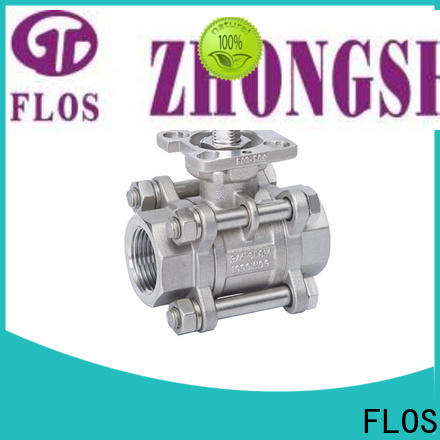 FLOS High-quality three piece ball valve manufacturers for closing piping flow