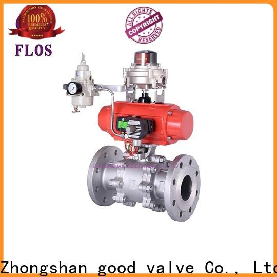FLOS pc 3 piece stainless steel ball valve factory for closing piping flow