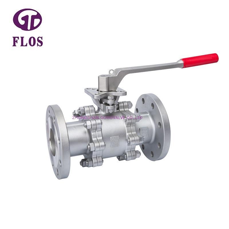 3 pc manual high-platform ball valve,flanged ends