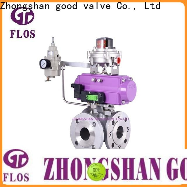 Custom 3 way ball valve pneumatic company for opening piping flow