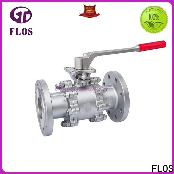 New three piece ball valve switchflanged Supply for opening piping flow