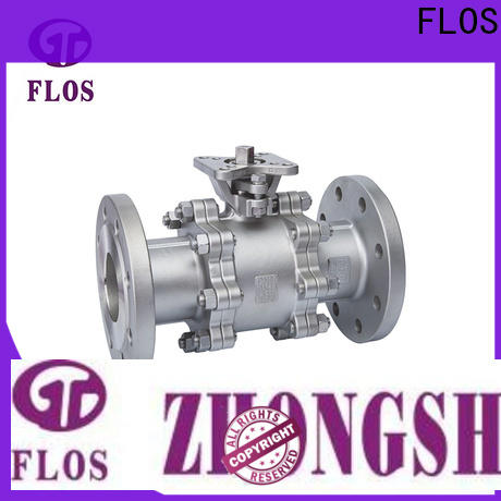 New three piece ball valve flanged manufacturers for closing piping flow