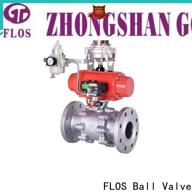 FLOS pneumaticworm 3 piece stainless ball valve factory for directing flow