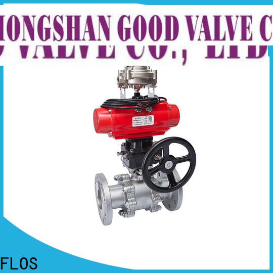 FLOS New 3 piece stainless ball valve company for closing piping flow