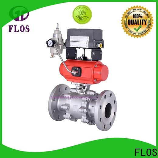 FLOS openclose three piece ball valve manufacturers for directing flow