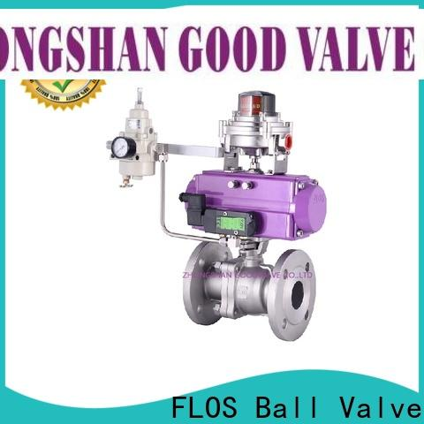 FLOS valveflanged 2-piece ball valve for business for opening piping flow