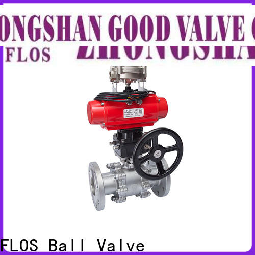 FLOS pneumatic three piece ball valve company for closing piping flow