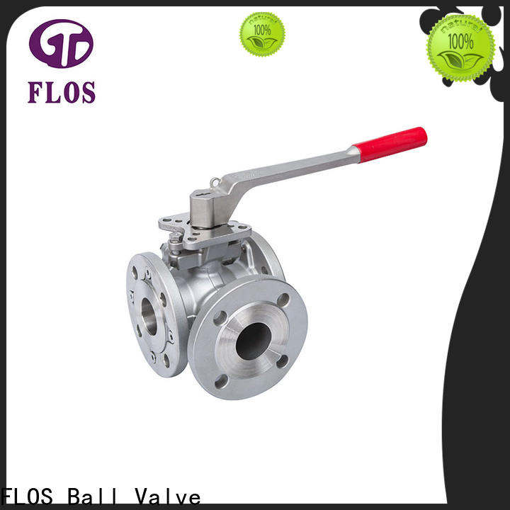 FLOS switchflanged three way valve factory for directing flow