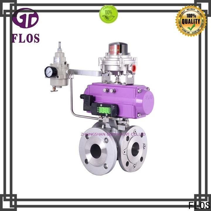 FLOS pneumaticelectric multi-way valve manufacturers for opening piping flow