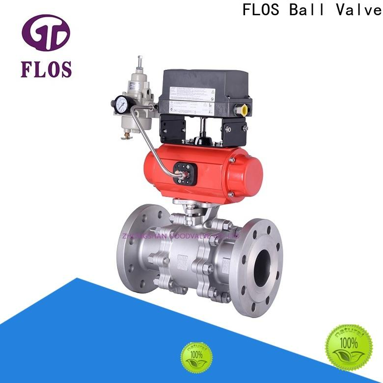 Custom 3-piece ball valve position factory for closing piping flow