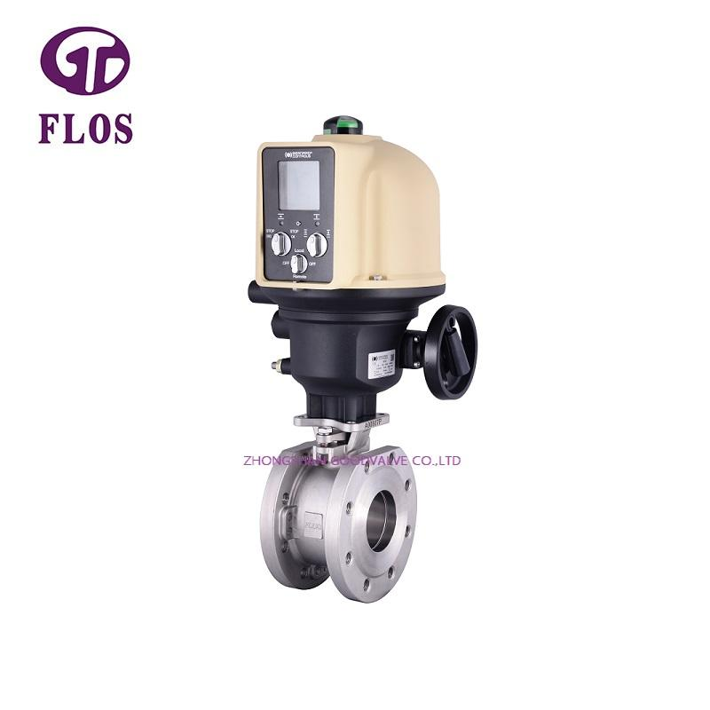 One pc electric /worm wafer type ball valve,flanged ends