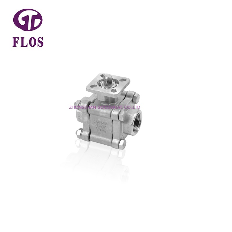 FLOS Custom three piece ball valve Supply for opening piping flow-1