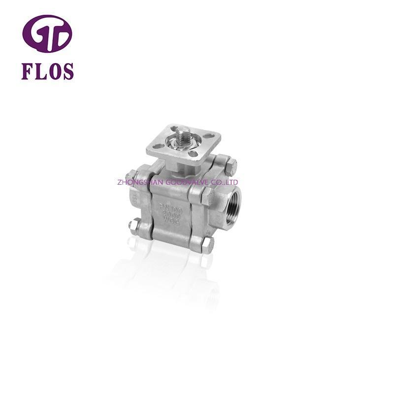 3 pc high pressure high-platform ball valve,threaded ends