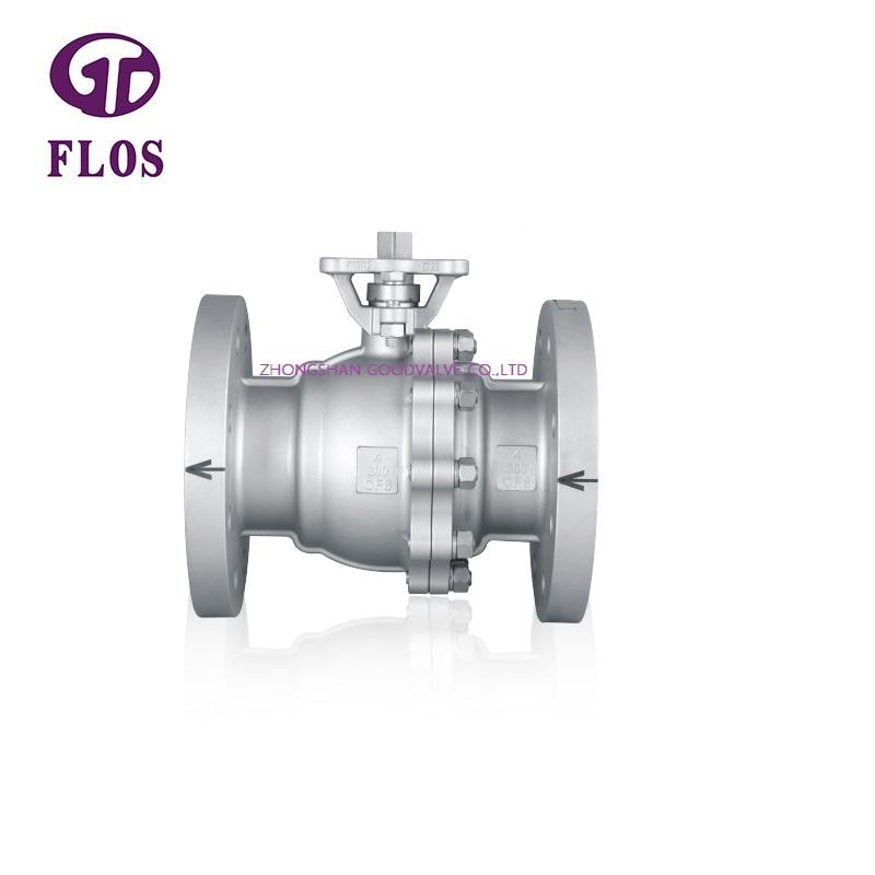 2 pc metal sealed  high-platform ball valve,flanged ends