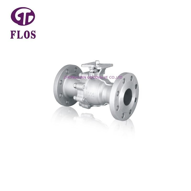 2 pc high pressure high-platform ball valve,flanged ends