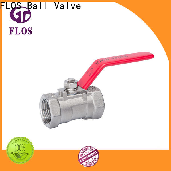 FLOS ball single piece ball valve company for closing piping flow