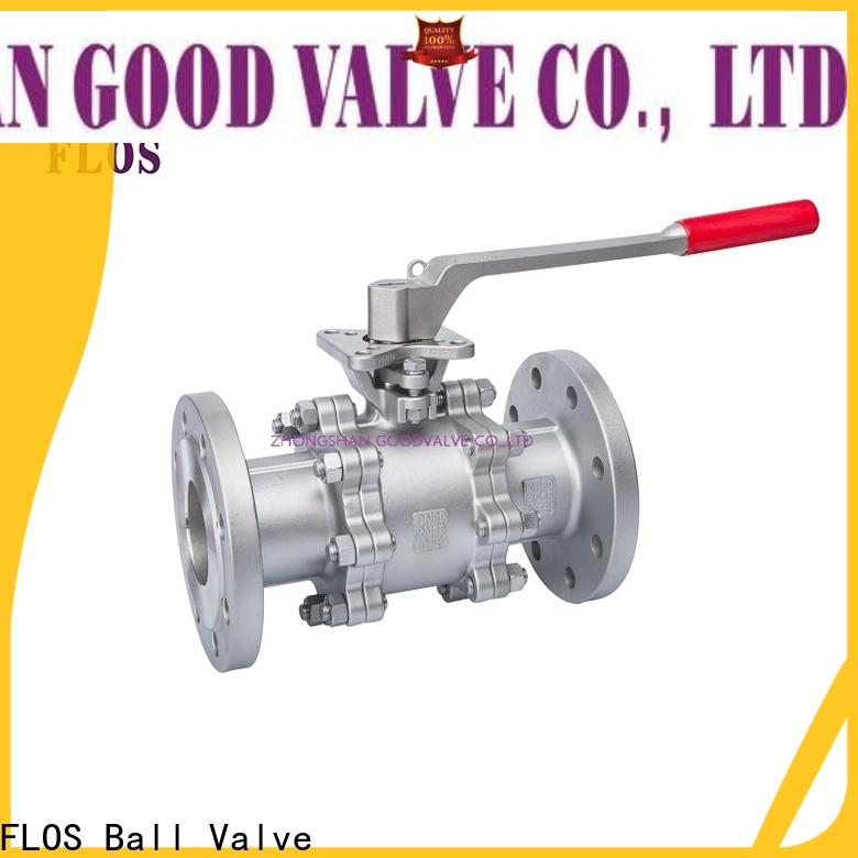 Wholesale 3 piece stainless ball valve flanged factory for closing piping flow