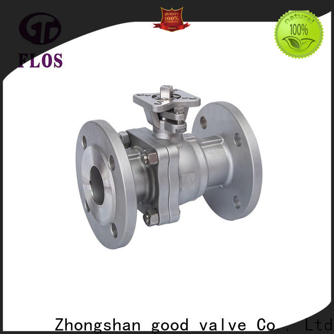 New stainless ball valve flanged Supply for opening piping flow