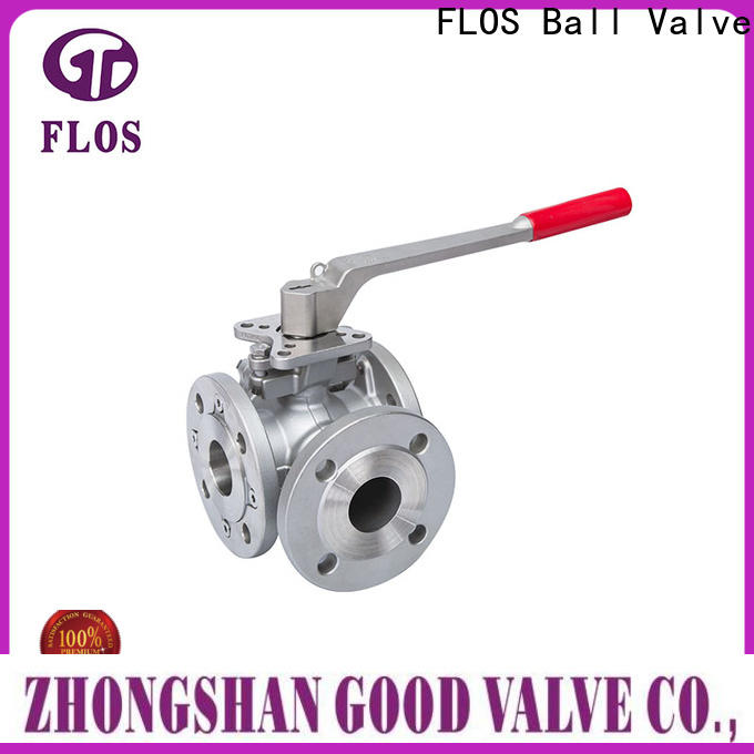 FLOS stainless three way ball valve Suppliers for opening piping flow