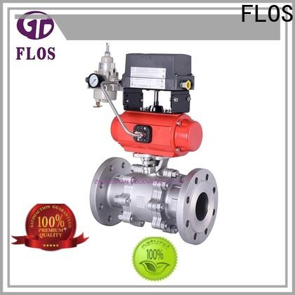 FLOS valve 3 piece stainless ball valve for business for closing piping flow