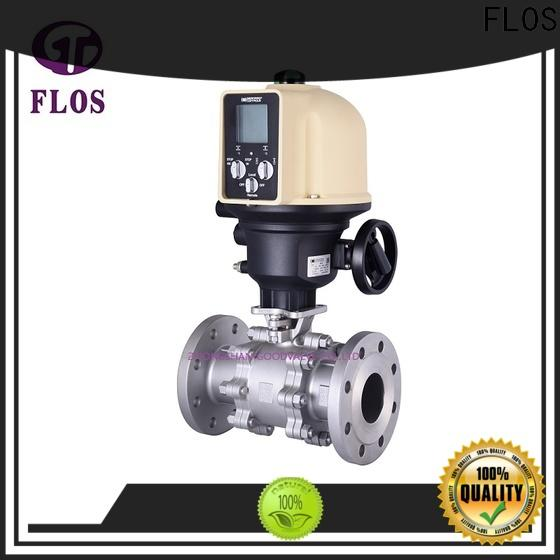 FLOS switchflanged 3 piece stainless ball valve manufacturers for closing piping flow