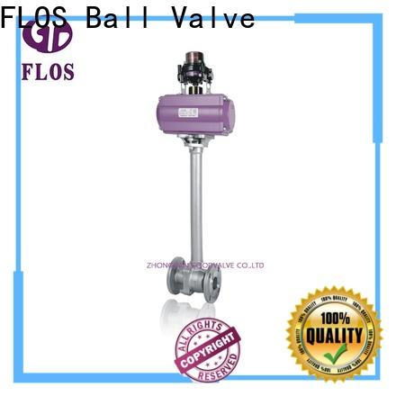 FLOS positionerflanged stainless steel valve manufacturers for opening piping flow