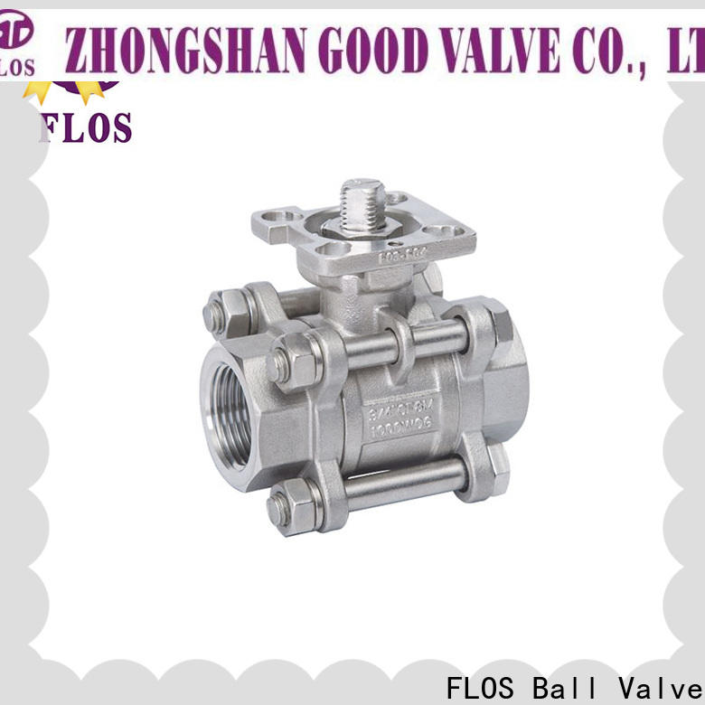 FLOS Top 3 piece stainless steel ball valve for business for closing piping flow
