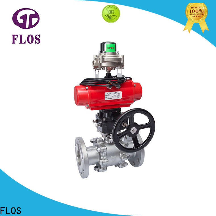 FLOS New 3 piece stainless ball valve Supply for closing piping flow