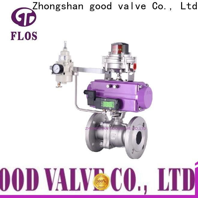 FLOS flanged stainless steel valve company for closing piping flow
