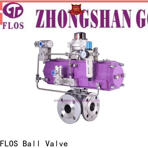 FLOS steel three way ball valve factory for closing piping flow