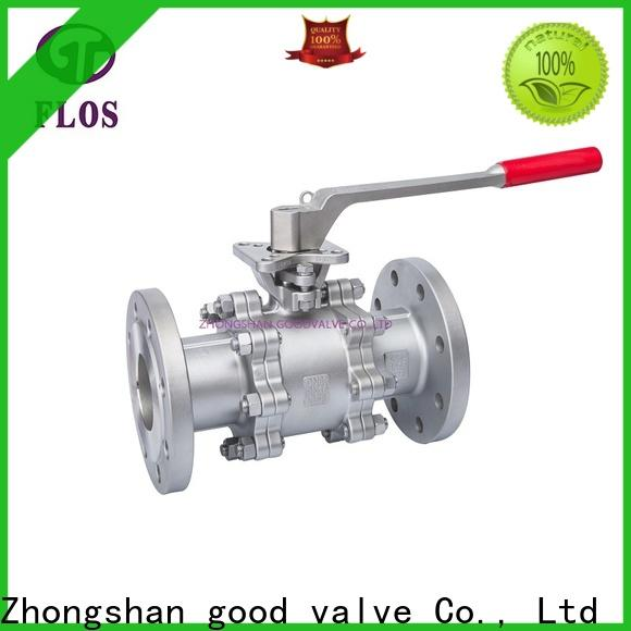 FLOS pneumaticworm 3 piece stainless ball valve manufacturers for opening piping flow