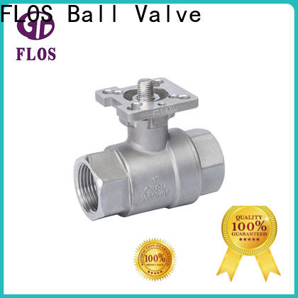 FLOS positionerflanged two piece ball valve manufacturers for directing flow