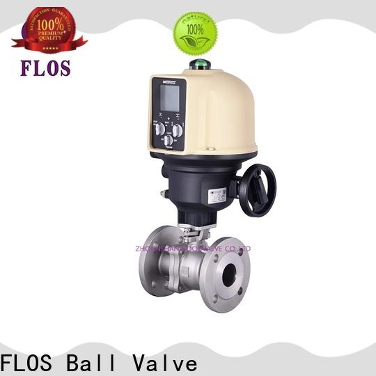 FLOS switchflanged stainless ball valve Supply for closing piping flow