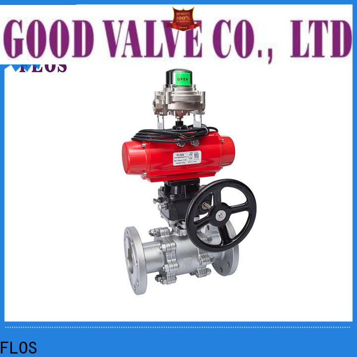 FLOS valvethreaded 3-piece ball valve manufacturers for opening piping flow