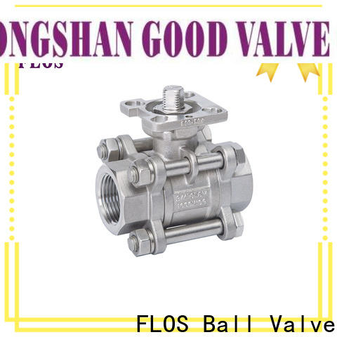 FLOS Best 3 piece stainless steel ball valve factory for directing flow