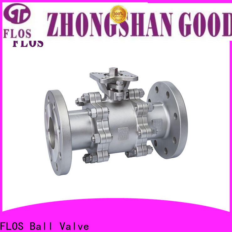 FLOS New three piece ball valve manufacturers for closing piping flow