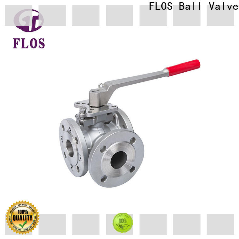 FLOS steel 3 way valves ball valves for business for opening piping flow