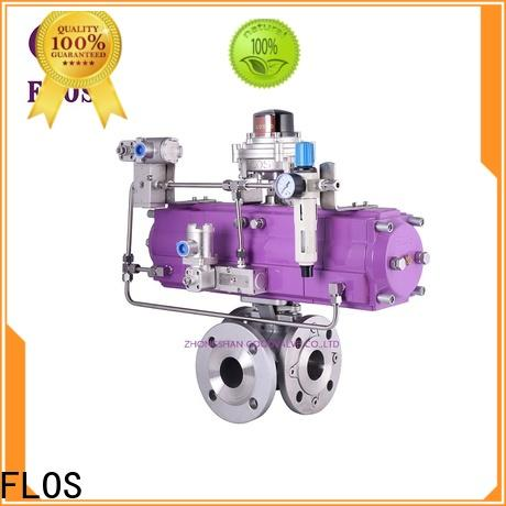 FLOS steel flanged end ball valve Suppliers for closing piping flow