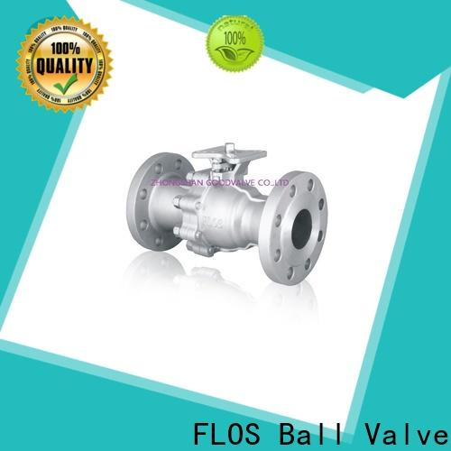 FLOS ends 2-piece ball valve factory for closing piping flow